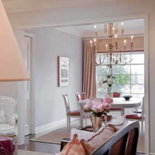 Swedish design, chandelier, pale tones