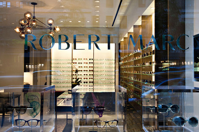 Robert Marc, an elegant eyeglass shop in New York City.